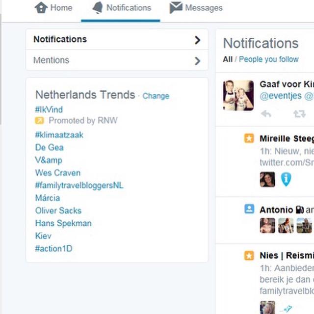 #familytravelbloggersNL trending topic op Twitter in Nederland.